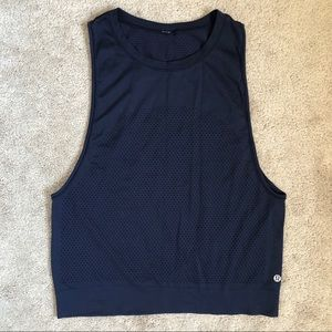 Lululemon Athletica Breeze By Muscle Tank Navy